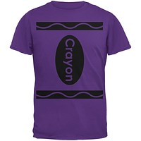 Halloween Crayon Costume Purple Adult T-Shirt