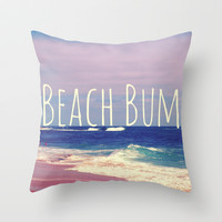 Beach Bum Throw Pillow by Josrick