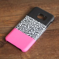 Black Pink Leopard Pattern Galaxy S7 Edge S7 SE Case Galaxy S8+  Samsung Note 5 Cover S7-260