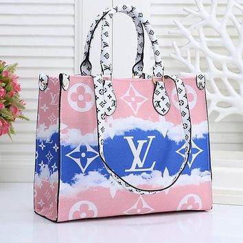 Louis Vuitton Lv Summer Gradual Tie Dye Printing Big Print Hand Bag