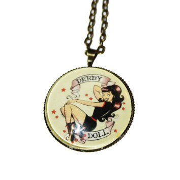Derby Doll Vintage Style necklace