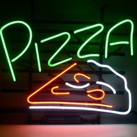 New Pizza Real Glass Neon Light Sign Home Beer Bar Pub Shop Open Sign L23