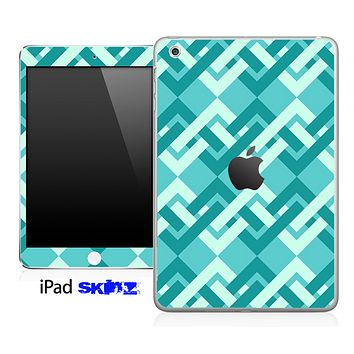 Locking Green Abstract Skin for the iPad Mini or Other iPad Versions