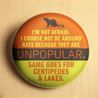 Fear of Rats  //  1.25 inch button