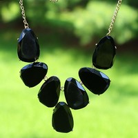 Stepping Stones Necklace in Black