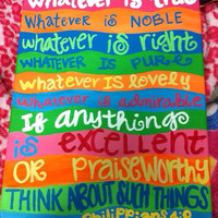 Whatever Is True bible verse painting