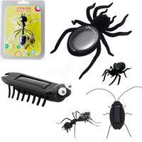 1pcs Educational Solar Powered Spider Cockroach Grasshopper Ant Multi Foot Worm Toy Gadget Kids