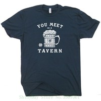 Dungeons Tavern Shirt 20 Sided Dice Shirts And Magic Dragons Beer Mug The Dungeon Master Fantasy Rpg Gamer Gathering Funny Tee