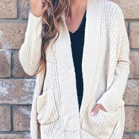 Noelle Ribbed Knit Cardigan -