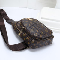 LV Women Fashion Leather Chest Bag Crossbody Shoulder Bag Satchel