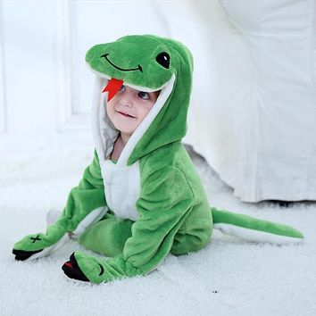 New Born Baby Anime Green Snake Kigurumi Onesuits Costume For Boy Funny Warm Soft Animal Cute Onepieces Pajamas Home Wear Girl