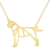 Gold Bullmastiff Dog Necklace
