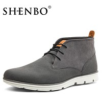 Fashion Gray Men Boots, Casual New Arrival Men Ankle Boots