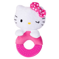 HELLO KITTY® Teething Ring Squeaker Puppy Toy (COLOR VARIES)