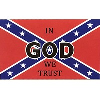 Lot of In God We Trust Confederate Flags
