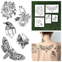 Pearlescent - Girly Temporary Tattoo Pack (Set of 10)