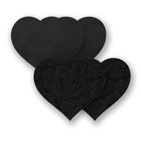 Nippies® Basic Black Lace Heart Pasties Basic Black Black A-DD