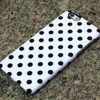 Polka Dots iPhone XR case iPhone XS Max plus Case Black and White iPhone 8 SE  Case Samsung Galaxy S8 S6  Case 052
