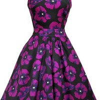 Lady Vintage Vampire Violet Tea Dress