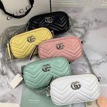 Dior GG classic mini long bag with textured leather texture Hot selling fashion ladies shoulder messenger bag