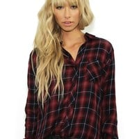 Rails Hunter Button Down in Midnight/Wine | Boutique To You