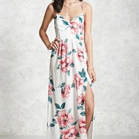 Lace-Up Floral Maxi Dress