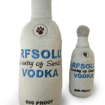 Arfsolut Vodka Bottle Dog Toy