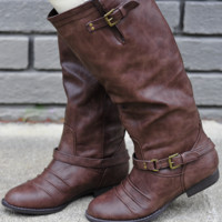 Forever Mine Boots: Dark Brown | Hope's