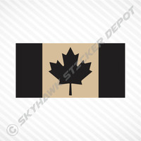 Subdued Canadian Flag Desert Tan Sticker Vinyl Decal Canada Armed Forces Police
