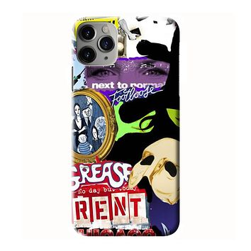 BROADWAY MUSICAL COLLAGE iPhone 3D Case Cover