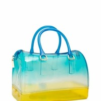Two-Tone Jelly Bowler Bag - GoJane.com