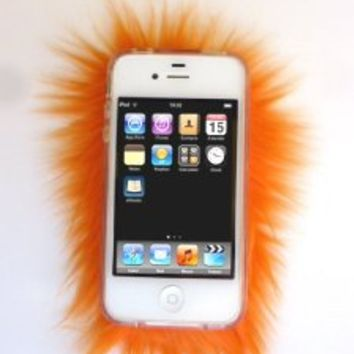 Furrywraps, Furry Iphone 4 4s Case Cover Orange