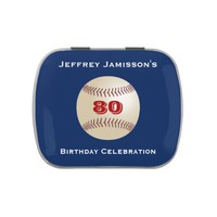 Jelly Belly Candy Tin Baseball Party Favor 80 Yrs