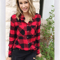HOME BOUND FLANNEL- RED