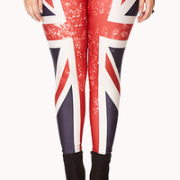 Distressed Union Jack Leggings