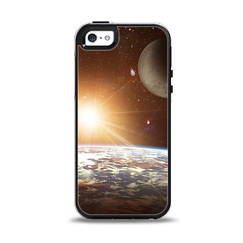 The Earth, Moon and Sun Space Scene Apple iPhone 5-5s Otterbox Symmetry Case Skin Set