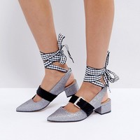 ASOS SPARKS Interchangeable Laces Mid Heels at asos.com