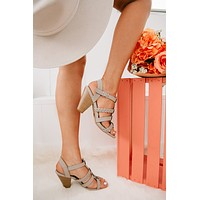 Taste Of Paradise Braided Heels (Taupe)