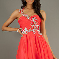 Short One Shoulder Homecoming Dress