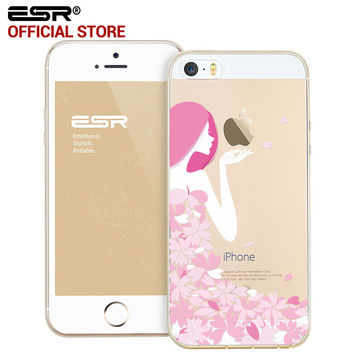 ESR Soft Clear Cute Cartoon Case Ultra Thin Light Weight TPU Cover case for iPhone 5/5s/5se