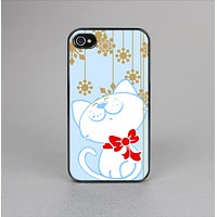 The Happy Winter Cartoon Cat Skin-Sert Case for the Apple iPhone 4-4s