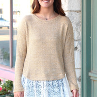 Lace Trim Cool Weather Knit Sweater {L. Goldenrod}