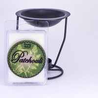 Patchouli Wax Melt (Soy Wax, Dye Free, No Phthalates, Vegan, Hand Poured), 3 oz. Smells Woodsy & Earthy. Hippie Favorite