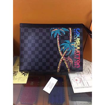 LV Louis Vuitton MONOGRAM CANVAS PRINTING POCHETTE VOYAGE HAND BAG