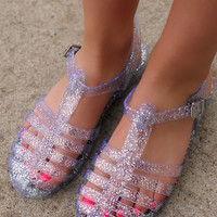 Be Jelly Flats - Clear Glitter