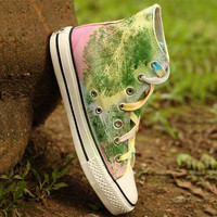 Fashion hand-painted flat shoes