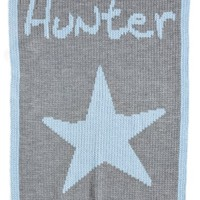 Infant Boy's Butterscotch Blankees 'Star - Small' Personalized Stroller Blanket, Size Small - Blue
