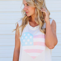Love In The USA Muscle Tank
