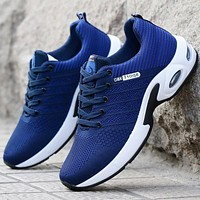 Vulcanized Shoes Mens Sneakers 2020 Fashion Summer Air Mesh Breathable Wedges Sneakers For Men Plus Size 38-44