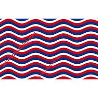 Patriotic Red White And Blue Stripes Face Mask